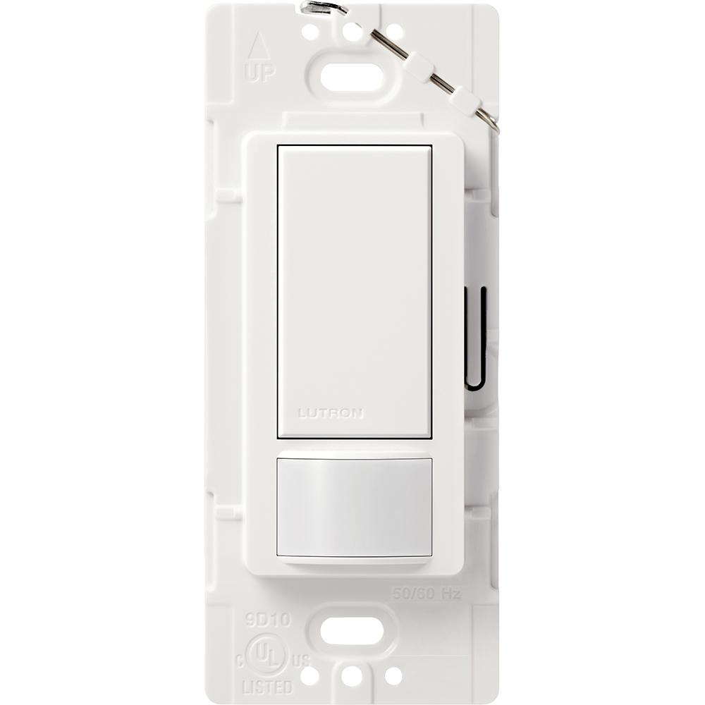 Lutron Maestro 5 Amp Single Pole Or Multi Location Motion Sensor Switch White Ms Ops5mh Wh Electrical Outlets Small Half Bathrooms
