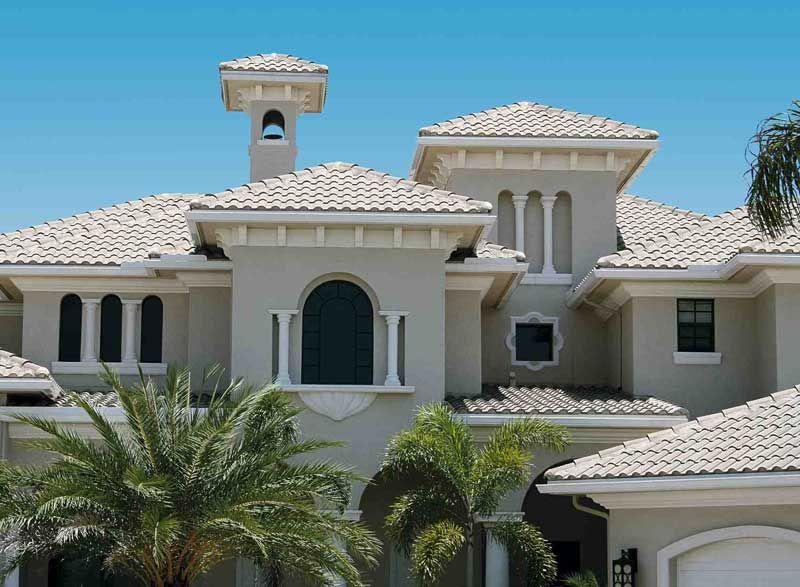 Light Colored Spanish Tile Roof Spanish Tile Roof House Roof Spanish Tile