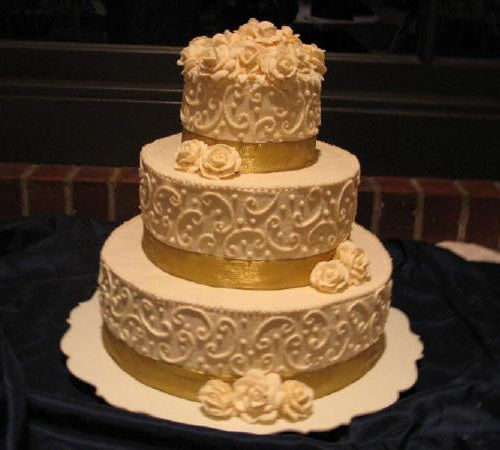 Gold Wedding Cakes From Ercream How To Make