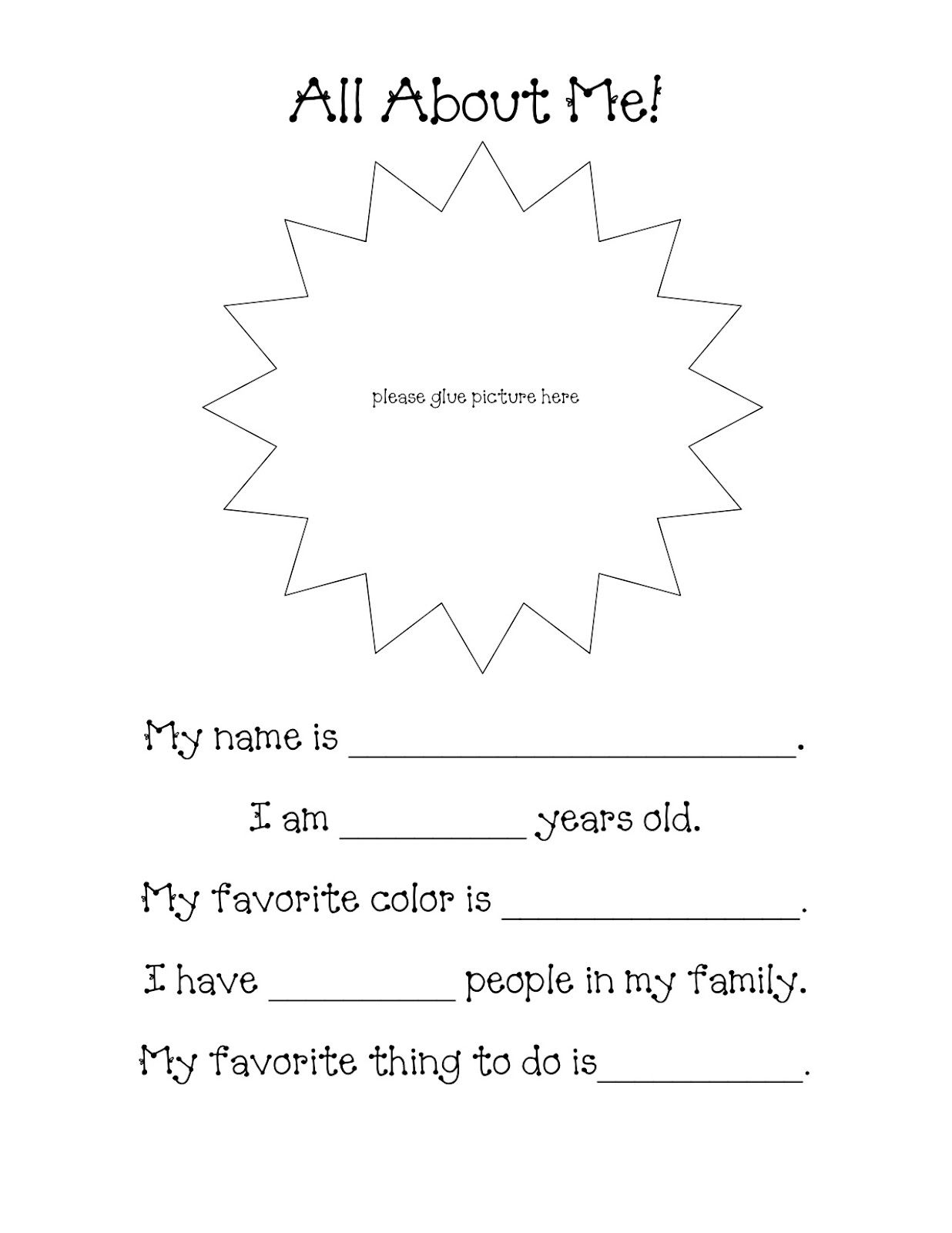 Pin By Cheralee Vohlken On Adventures In Kindergarten All About Me Preschool All About Me Book Preschool [ 1600 x 1236 Pixel ]