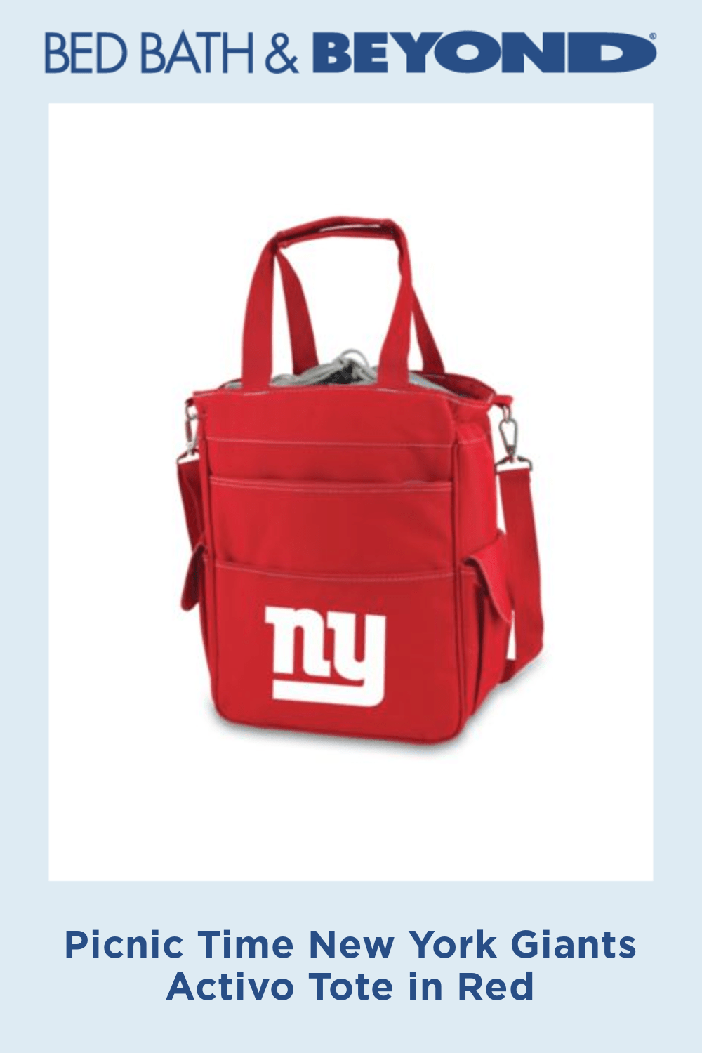 Picnic Time New York Giants Activo Tote in Red