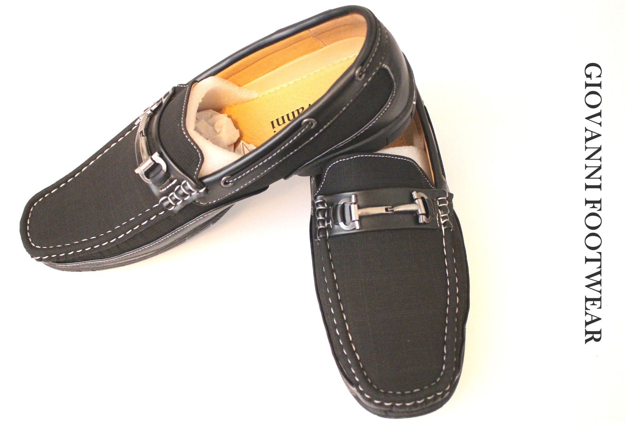 c3221e506d6 Casual Slip on Giovanni Loafer Dress Shoes - Black