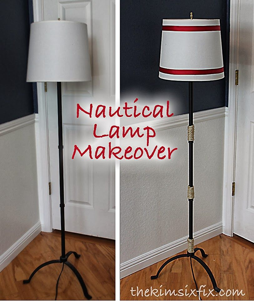 Nautical Floor Lamp Makeover The Kim Six Fix