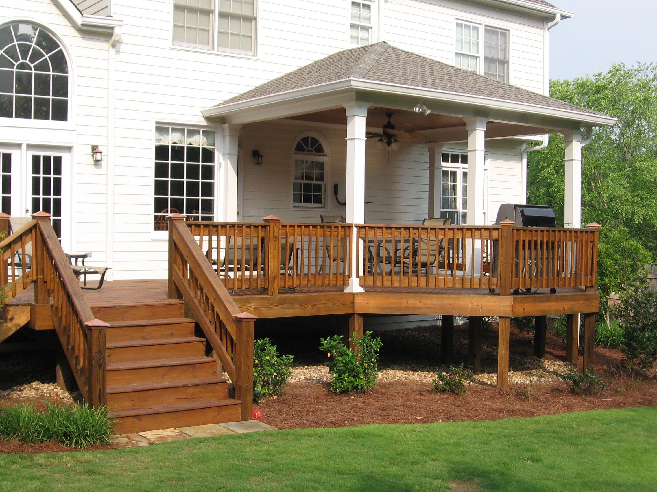 Porches Diy Deck Porch Design Wooden Decks