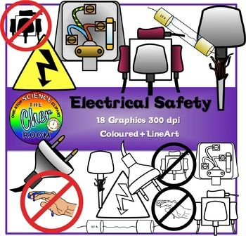 Limited Time Freebie Electrical Safety Clipart Safety Clipart Electrical Safety Life Skills Classroom