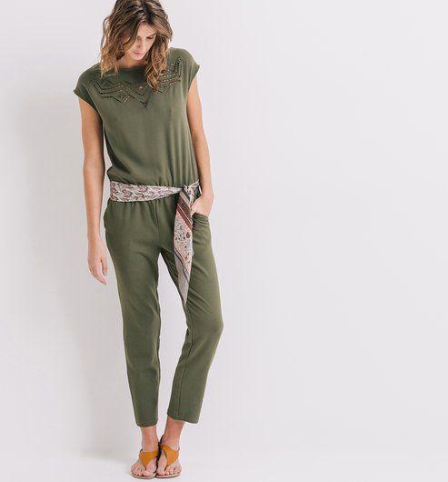 kombinezon damski khaki promod fashion pinterest combinaison pantalon femme combinaison. Black Bedroom Furniture Sets. Home Design Ideas