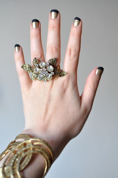 <3 nails.  french manicure... fiesta stye