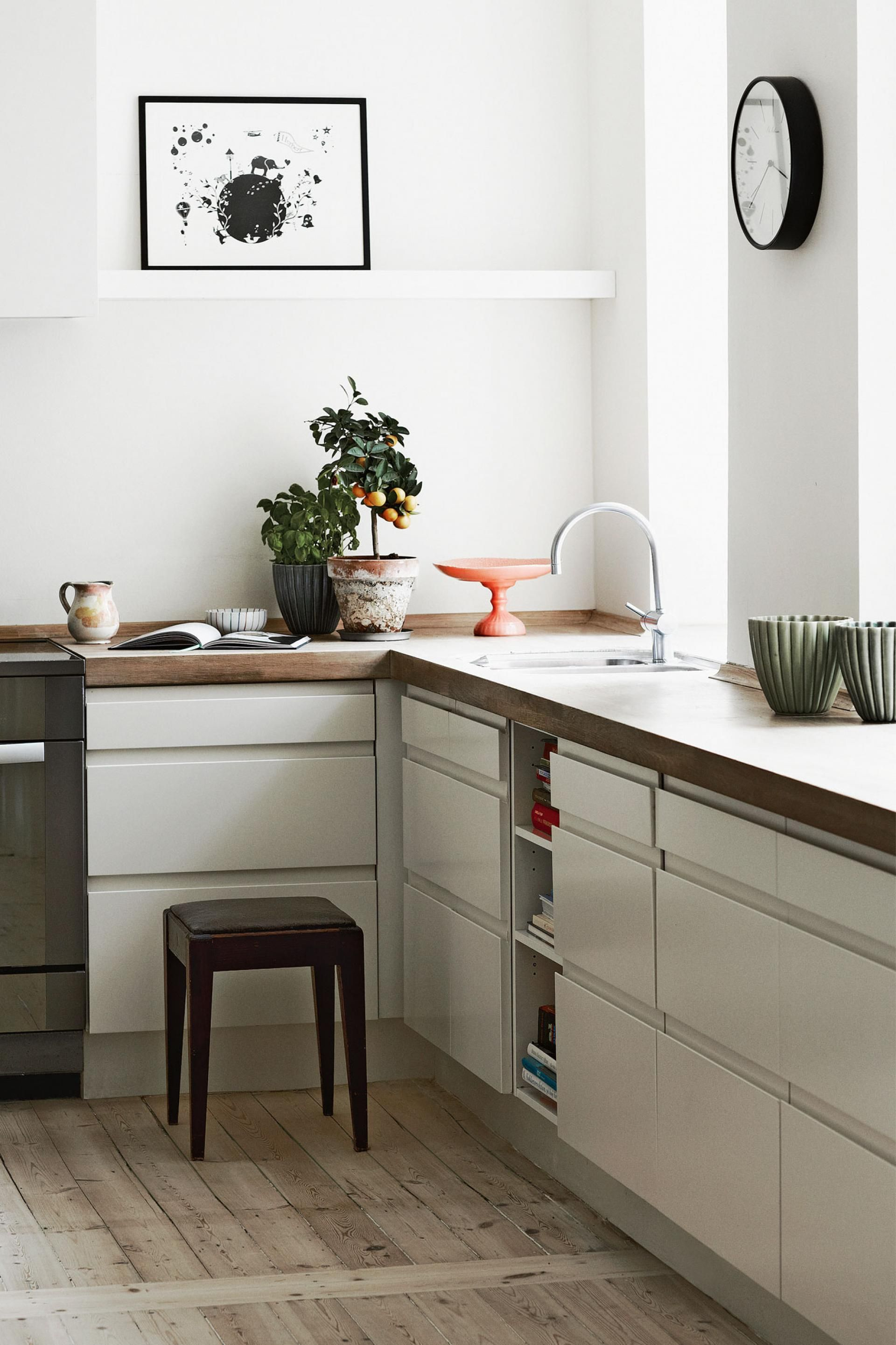 sliding cabinet doors that look like drawer fronts clever kitchen rh pinterest com
