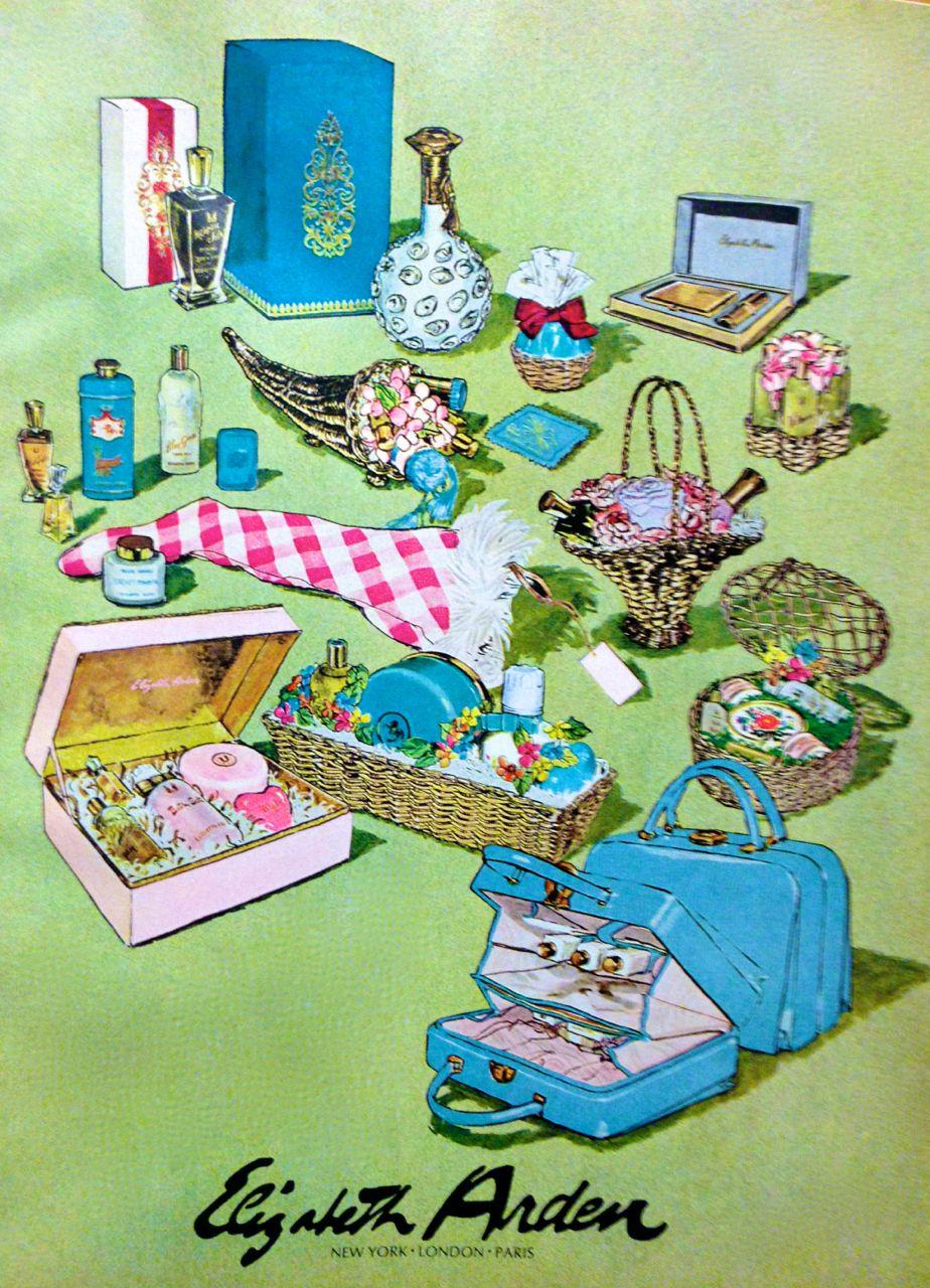 Elizabeth Arden Christmas Gift Sets Ad, 1966 Vintage