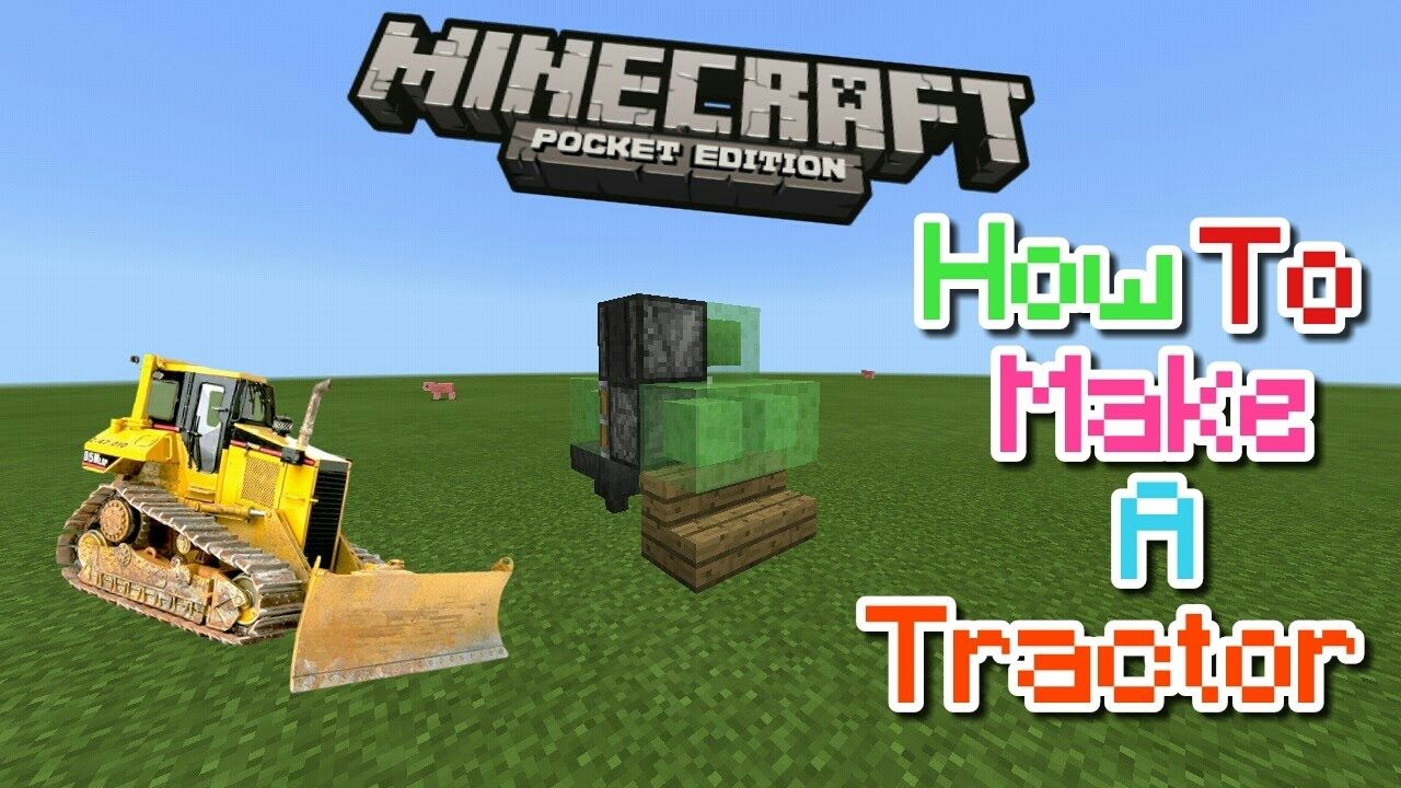 How To Make A Tractor In Mcpe 1 1 1 0 6 1 0 5 Mcpe
