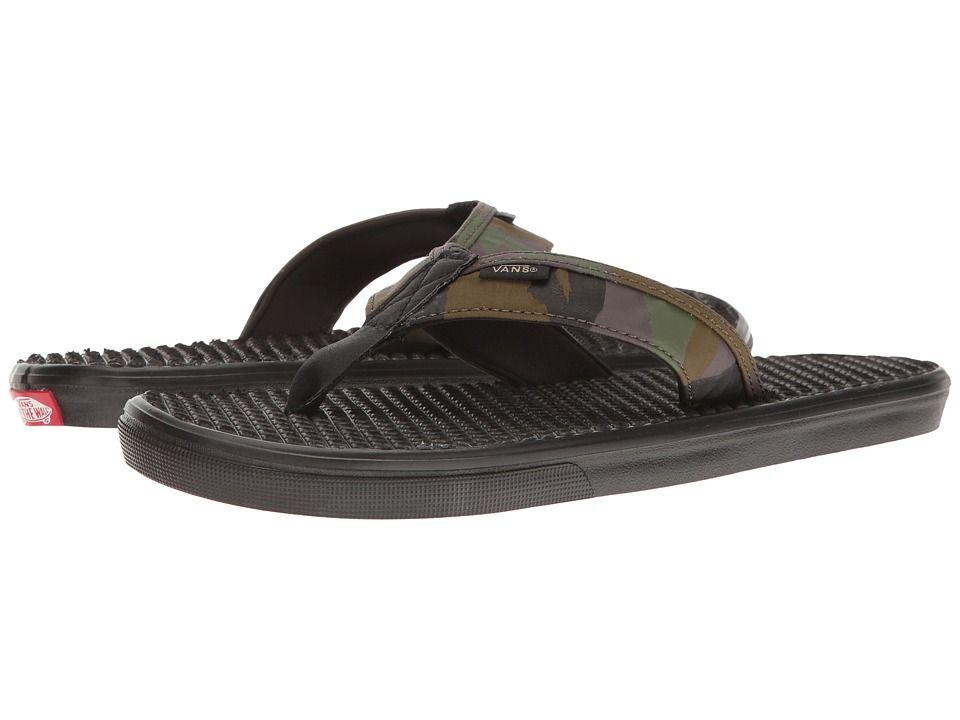 VANS VANS - LA COSTA LITE ((PEACE LEAF CAMO) BLACK) MEN S SANDALS.  vans   shoes   433310455