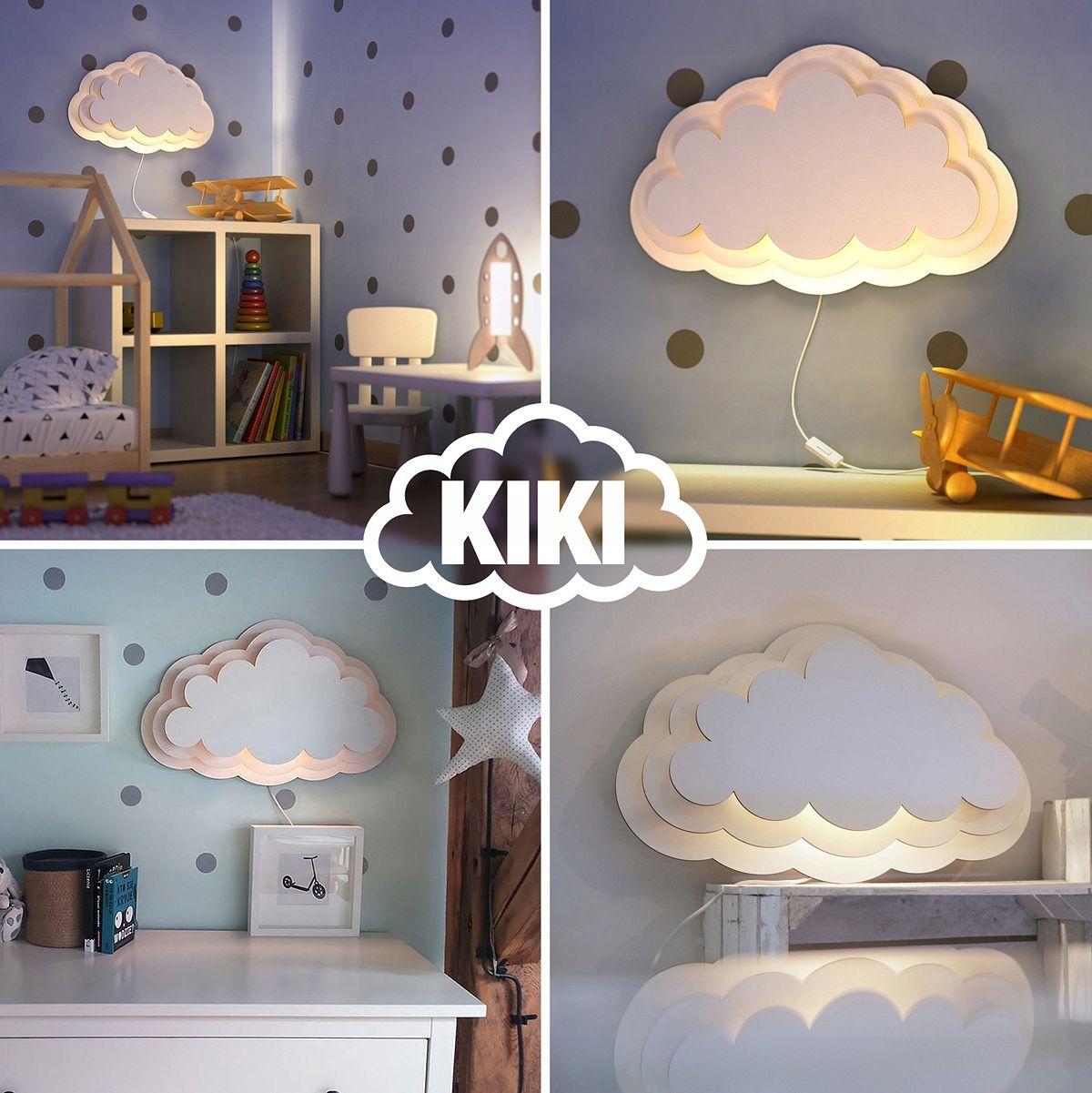 Kiki Lampa Chmurka Kinkiet Do Pokoju Dziecka Wall Lamp Cloud Shapes Lamp