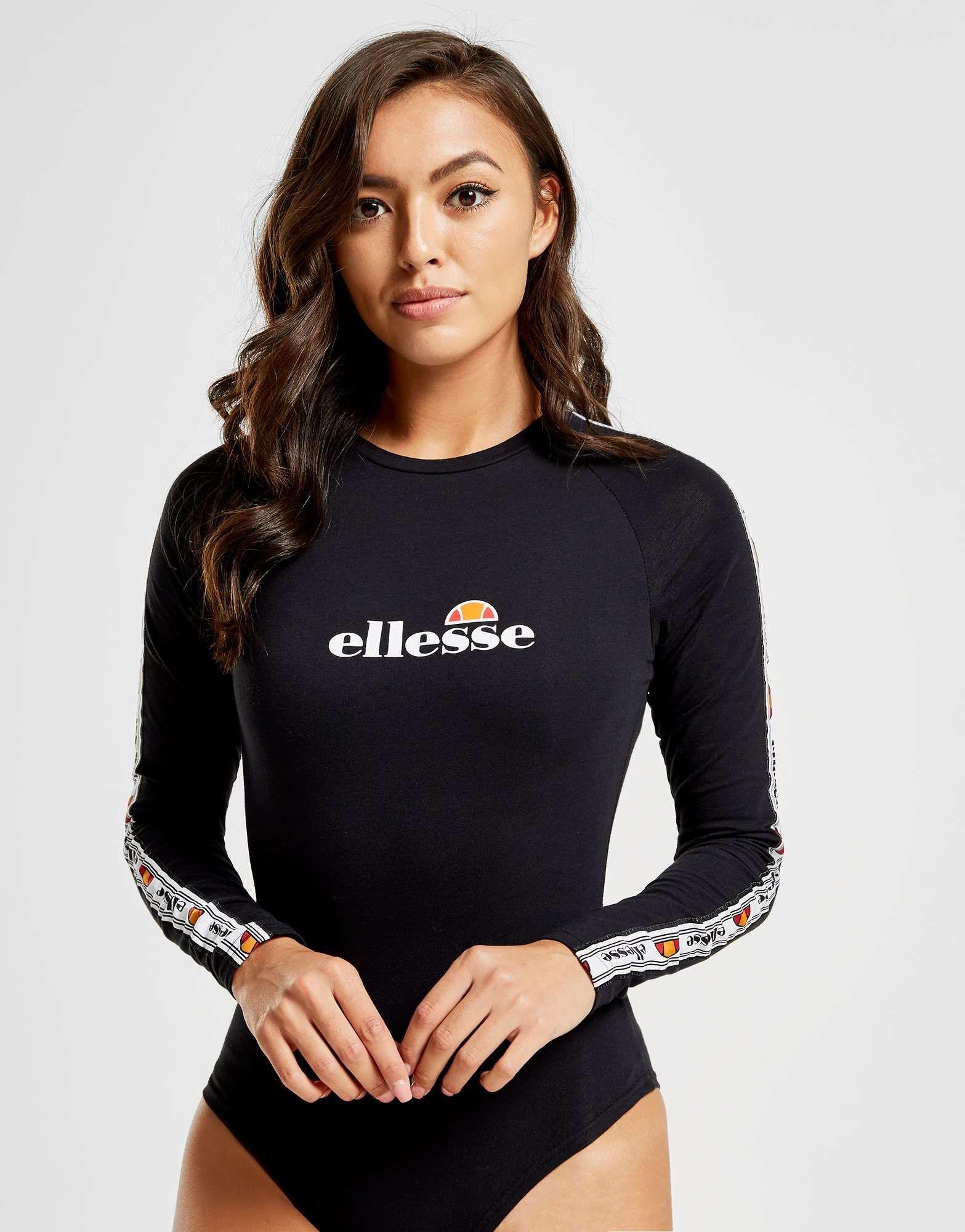 Ellesse Tape Long Sleeve Bodysuit Shop online for