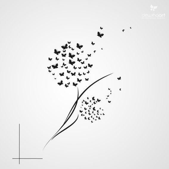 Vlinders paardebloemen selber machen pinterest for Schattenbilder selber machen