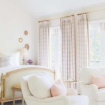 Alyssa Rosenheck: White and Pink French Bedroom with Pink Plaid ...