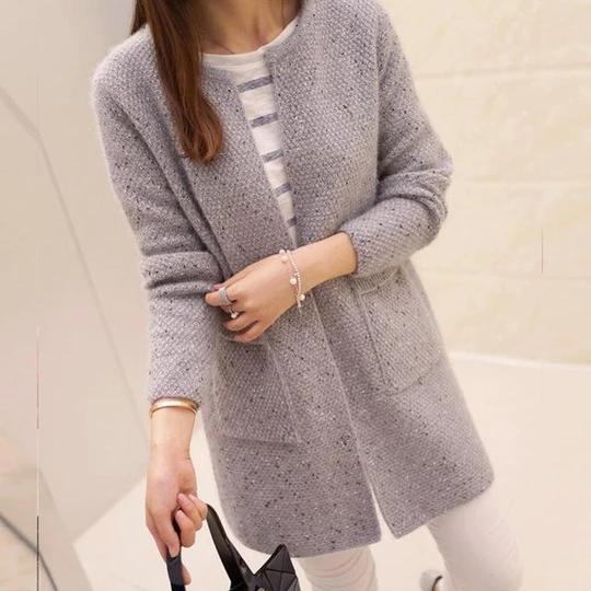 Cardigan Sweater Knitted Winter Casual Long Sleeve Crochet Women Tops Fashion