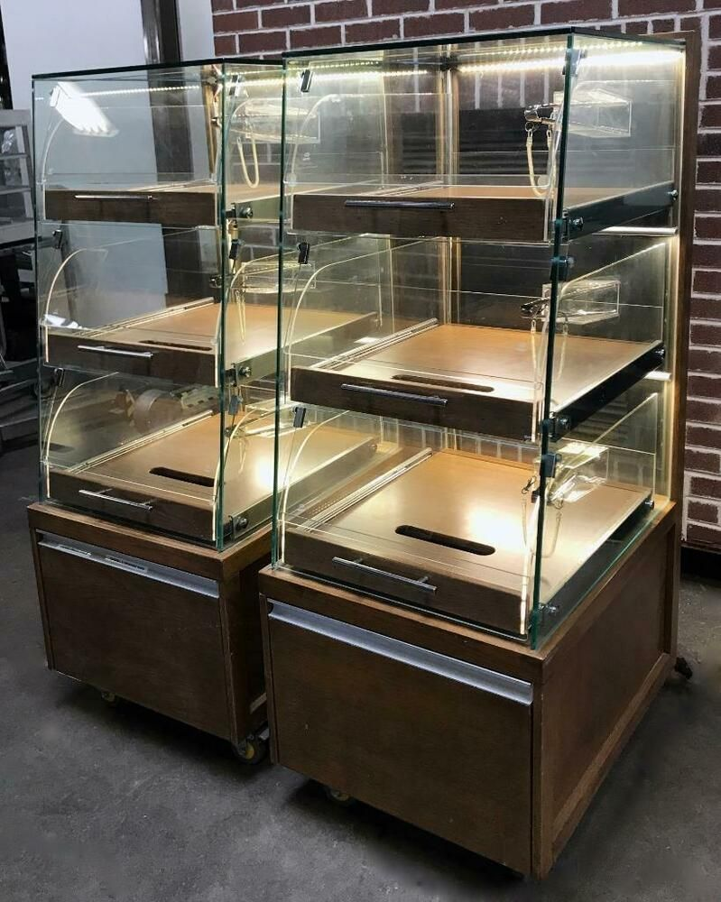 3 Drawer Glass Pullout Self Serve Pastry Display Cases Guaranteed