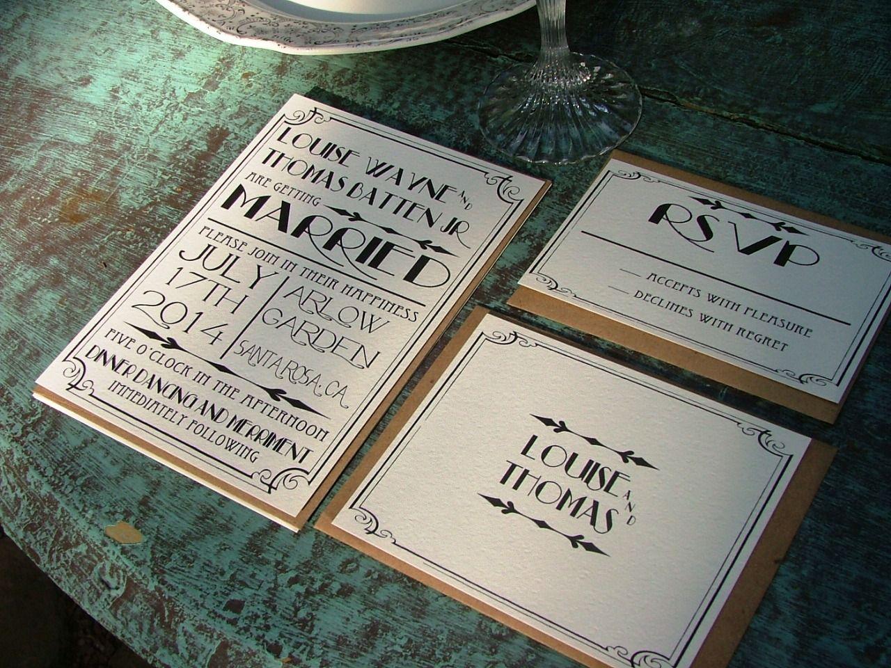 art deco wedding invitation templates wedding invitations