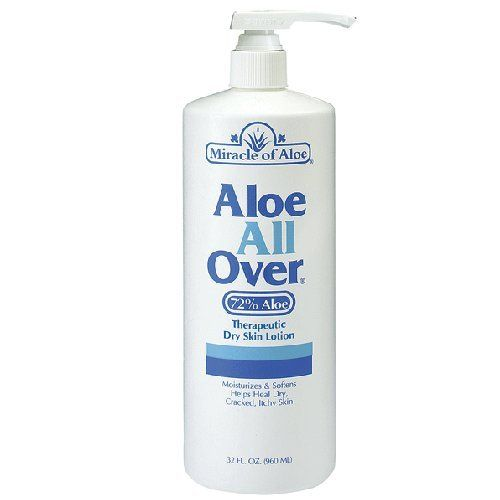 Miracle Of Aloe All Over Lotion Cream 32 Oz Pump Best Dry Lotion You Ll Ever Use Guaranteed Ideal Dry Skin Lot Lotion For Dry Skin Skin Lotion Soothing Lotion