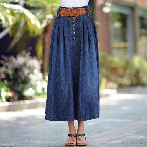 Baju Yang Cocok Untuk Rok Jeans Panjang