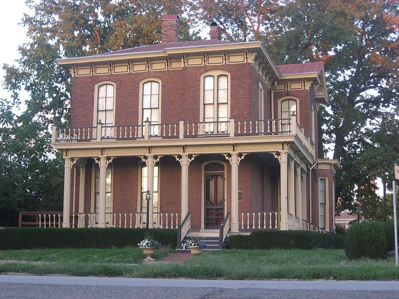 The Ambrose Hopkinson House In Olney Illinois Was Built In 1874 By Owner Ambrose Hopkinson A Contractor Br Red Brick House Brick Exterior House Brick House