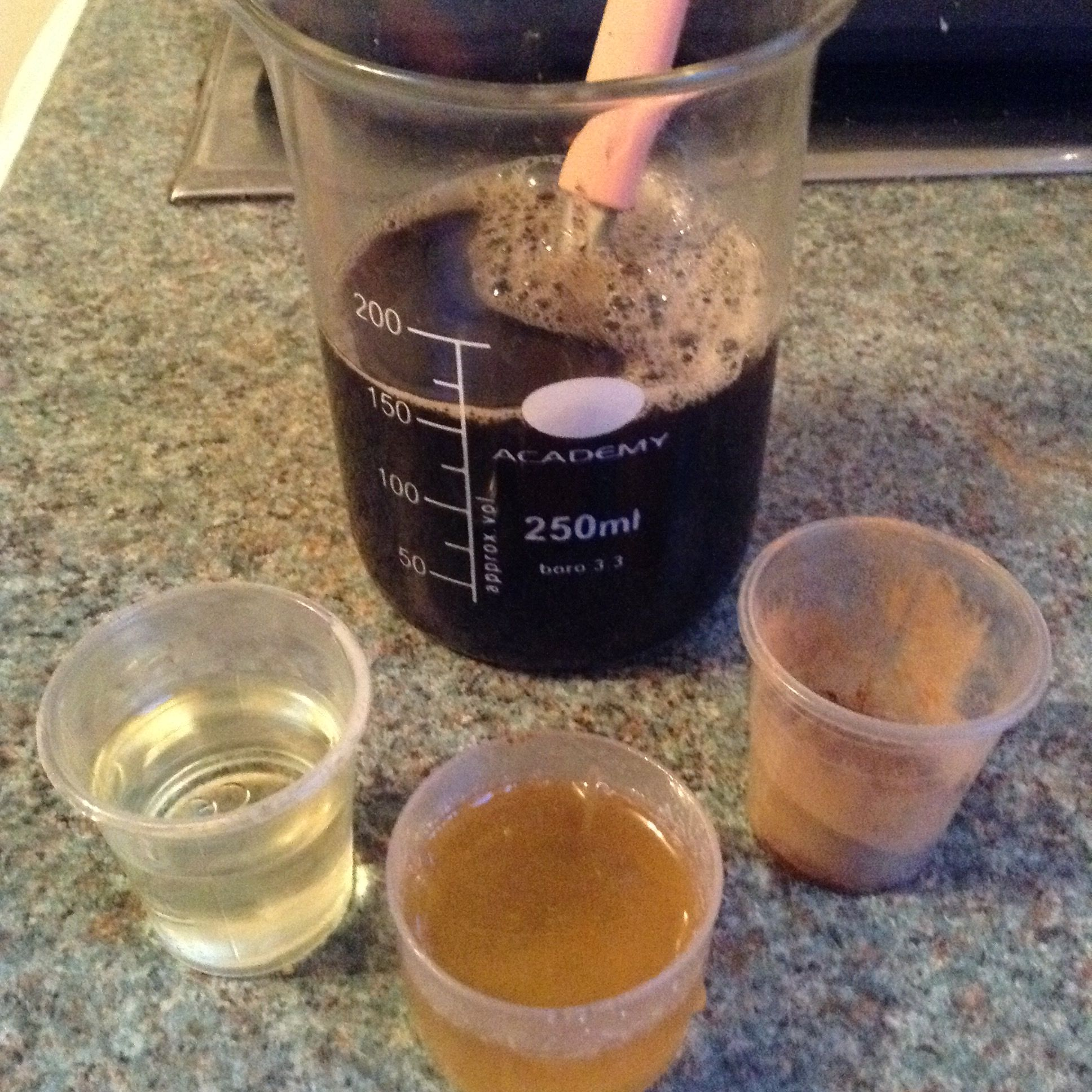 From bar to liquid Homemade black soap face wash Soap