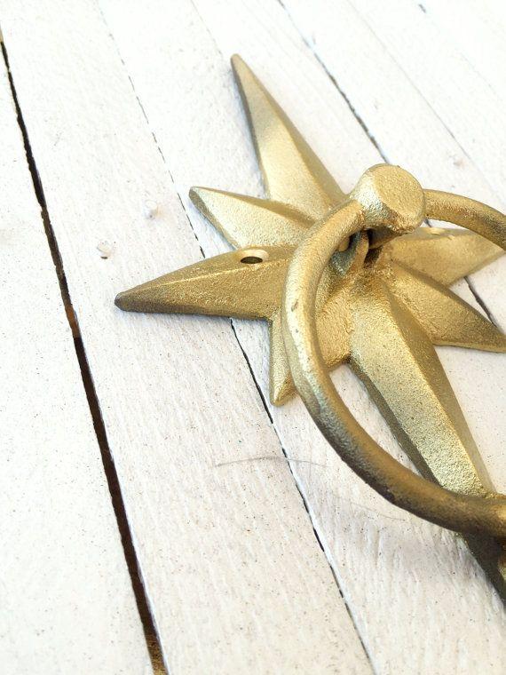 Mid Century Modern Door Knocker Iron Starburst by CamillaCotton ...