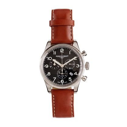 "This ""mooj-awe"" and ""peek-are"" is a ""must have."" Mougin & Piquard™ for J.Crew chronograph watch in black J.Crew"