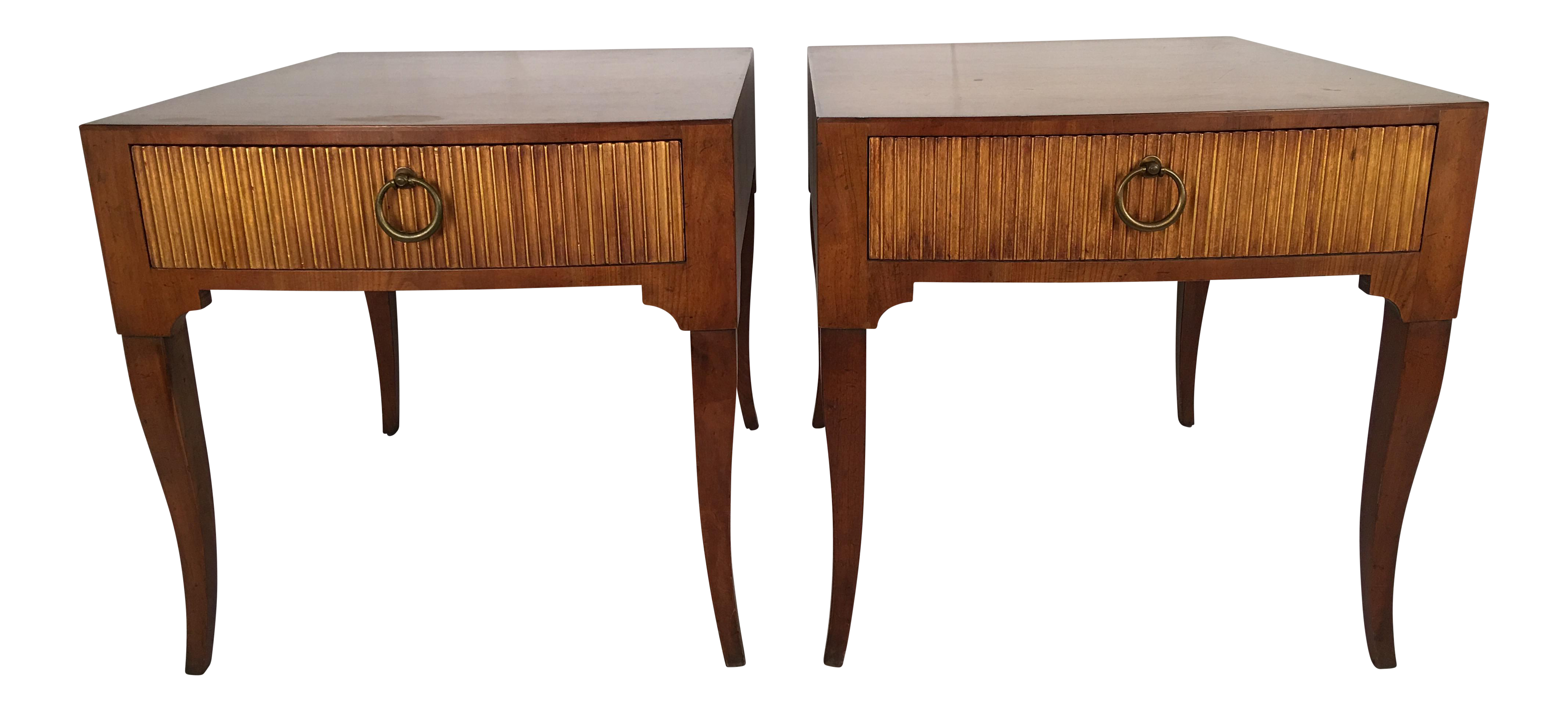 Baker Hollywood Regency End Tables A Pair On Chairish