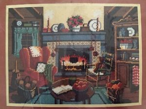 Winter Warmth Dimensions Needlepoint Kit Vintage 1983 NIP Fireplace Karen Avery | eBay