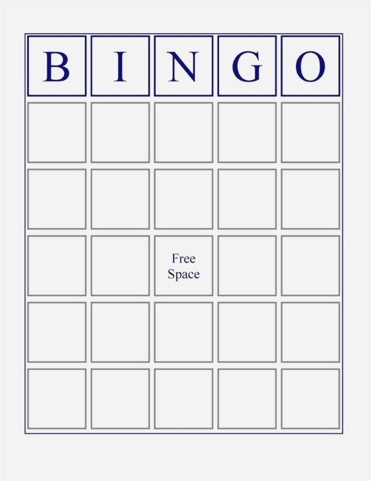 Free Collection Blank Bingo Card Template Microsoft Word