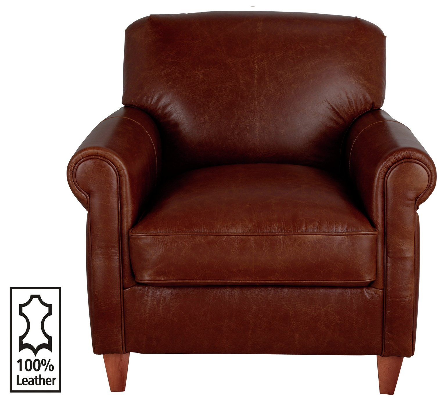 Buy Heart Of House Kingsley Leather Club Chair Tan At Argos Co Uk