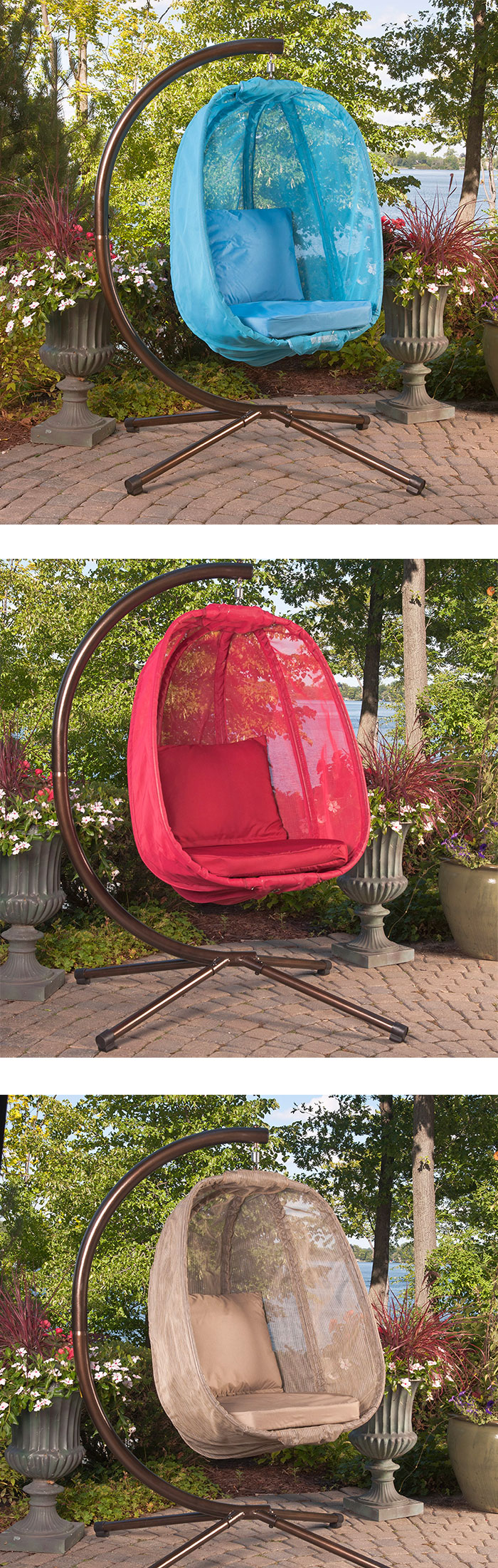 Who wants this contemporary egg chair for their backyard?   The best part is that it comes with a stand!  https://hammocktown.com/collections/egg-chairs