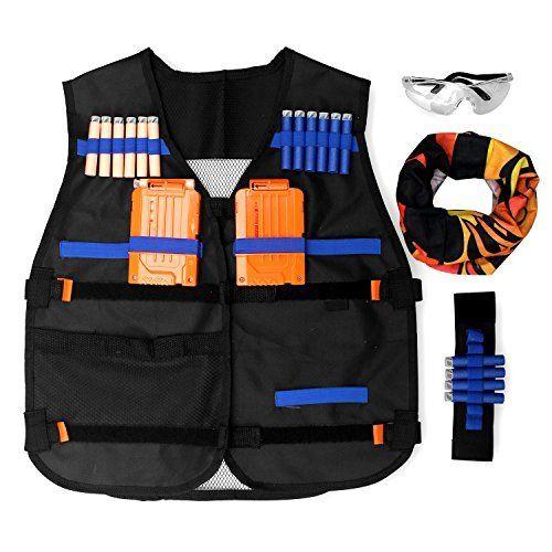 Tactical Vest Kit for Nerf Guns boys N-Strike Elite Series Soft Darts Toys  Dart