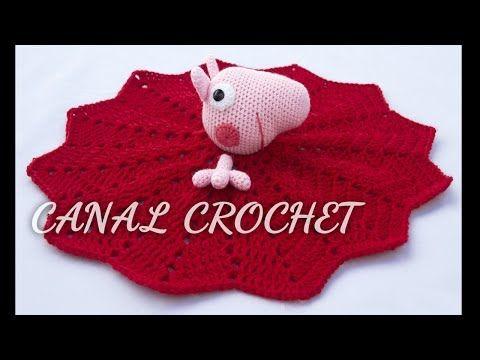 Una linda mantita Peppa Pig de apego para los mas pequeños, fácil y ...