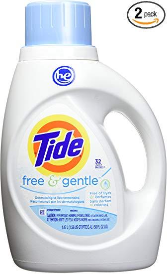 Amazon Com Tide Free Gentle He Turbo Liquid Laundry Detergent