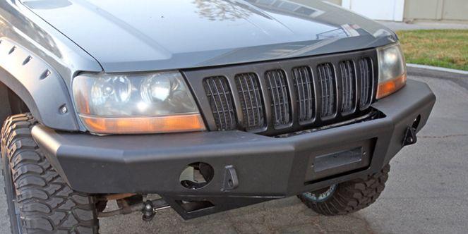 Trail Ready Jeep Grand Cherokee Wj Front Bumper Install Jeep