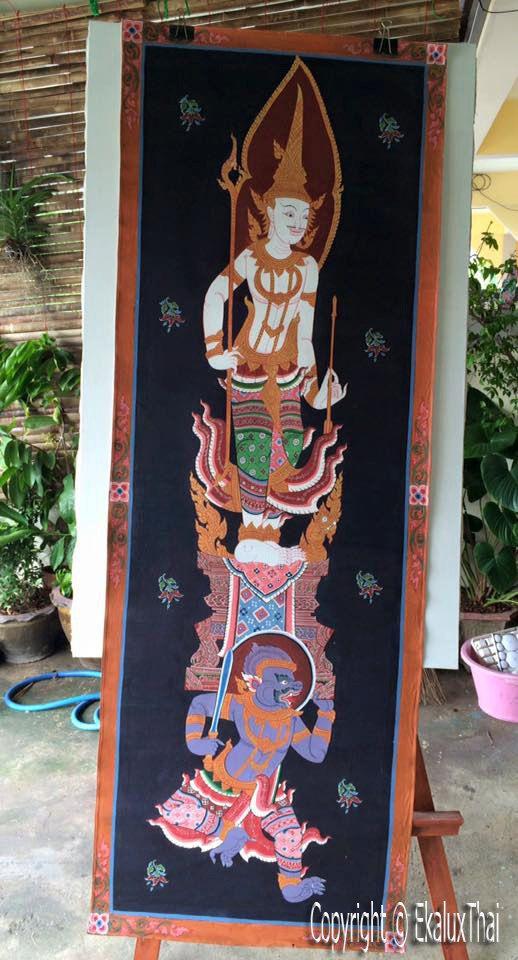 door guardian thai god tapestries acyric painting 35 by EkaluxThai & door guardian thai god tapestries acyric painting 35 by EkaluxThai ...