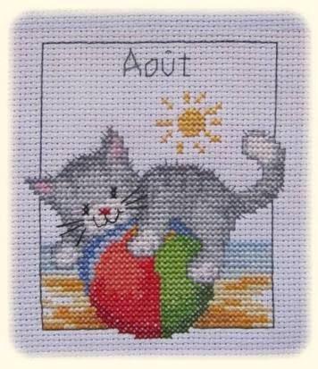 Risultati immagini per ปฏิทิน cross stitch