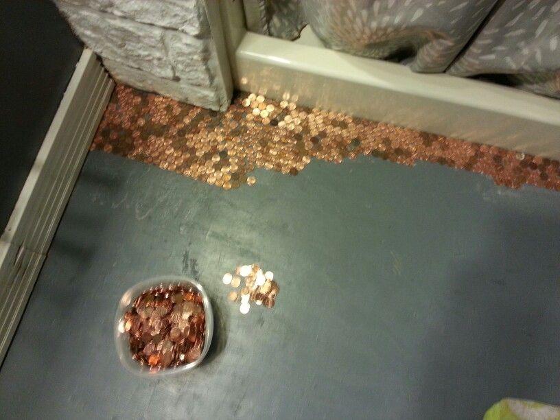 Redo Bathroom Floor penny floor in our bathroom♥diy! | kiddos | pinterest | bathroom