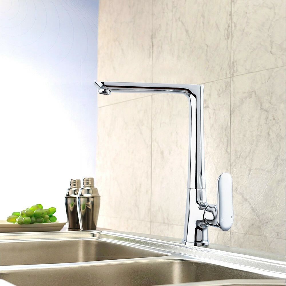Kitchen Faucet Contemporary LED Brass
