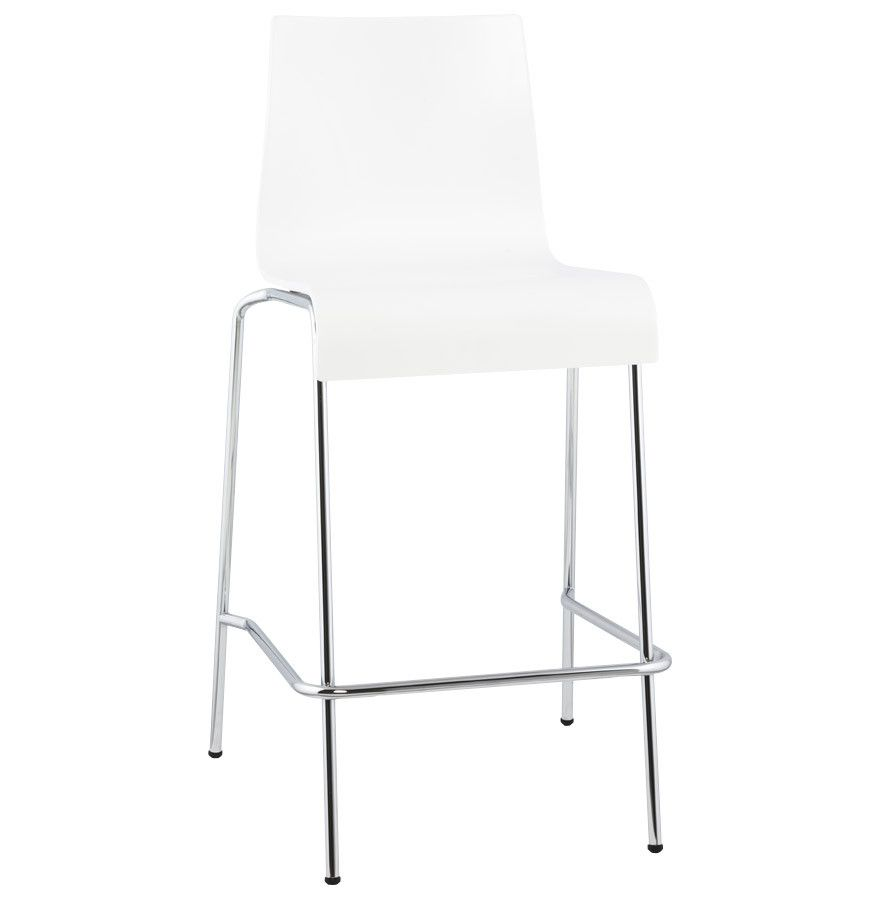 White Modern Kokoon Cobe Folding Bar Stool Bs00690wh Bar