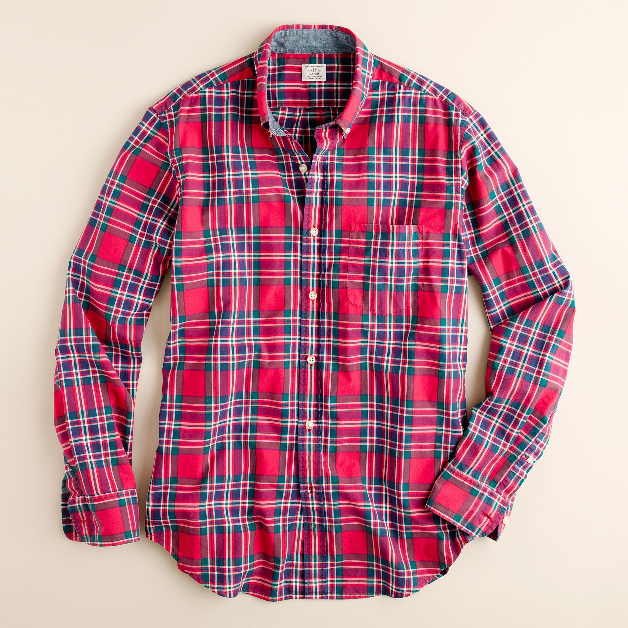 Smeiling Mens Plaid Long Sleeve Hipster Relaxed Fit Button Down Dress Shirts