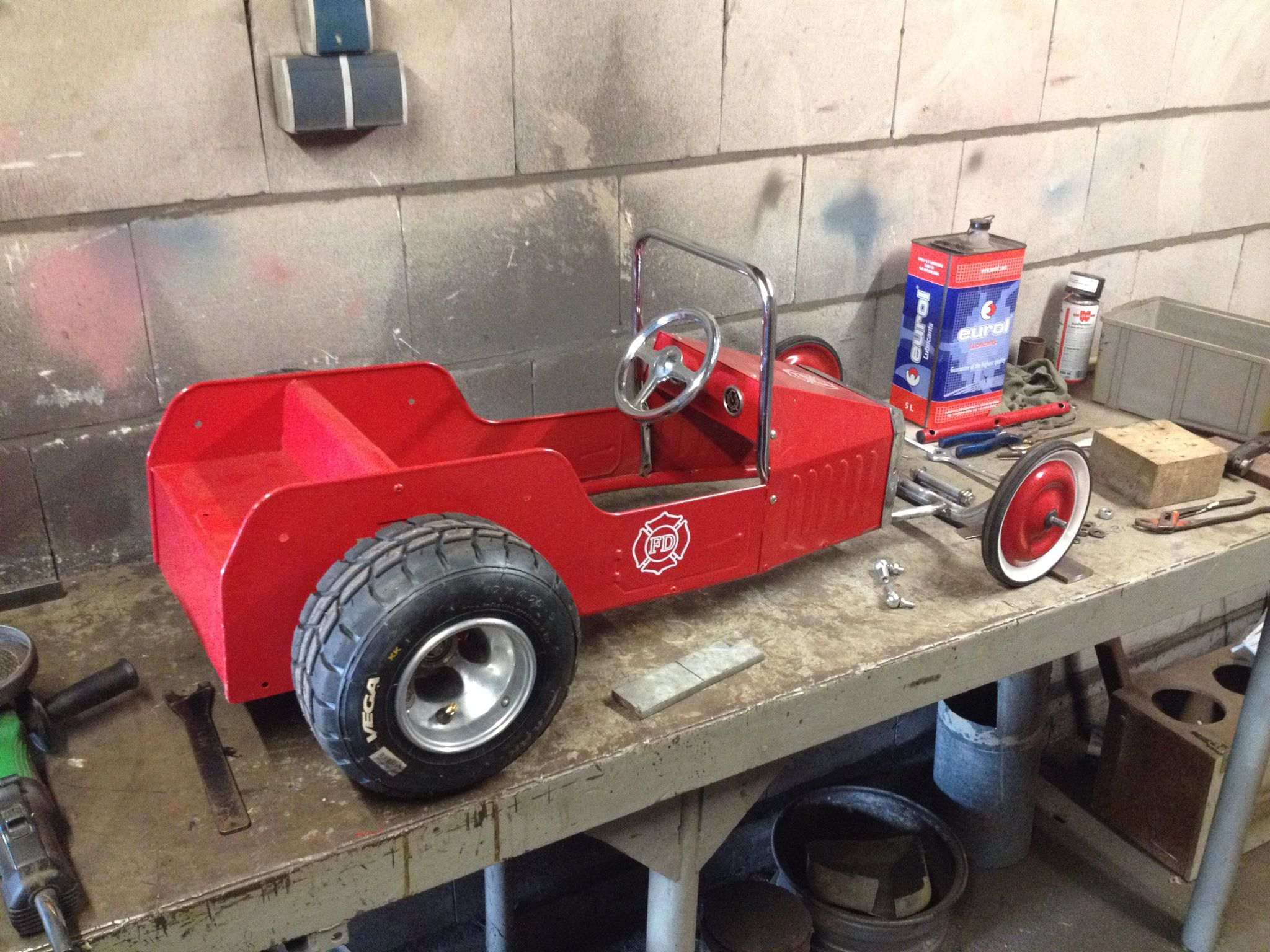 Old fire truck pedal car