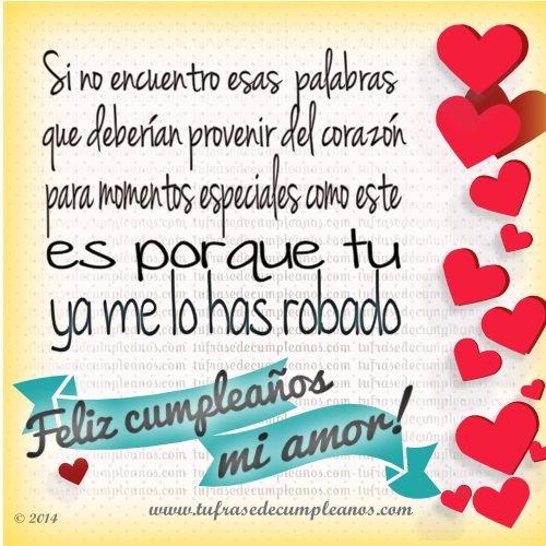Postales Cortas De Cumpleanos Para Mi Amor Muy Bonitos Nestor