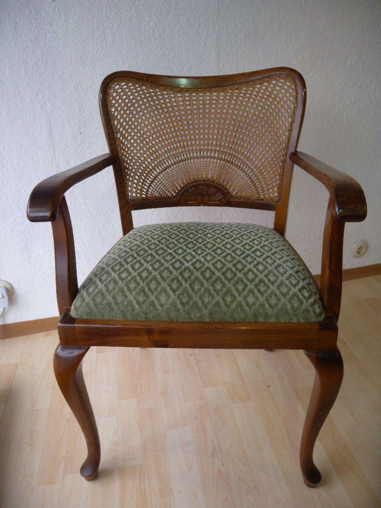 Chippendale Art Deco Armlehnstuhl Schreibtisch Stuhl Sessel Barock