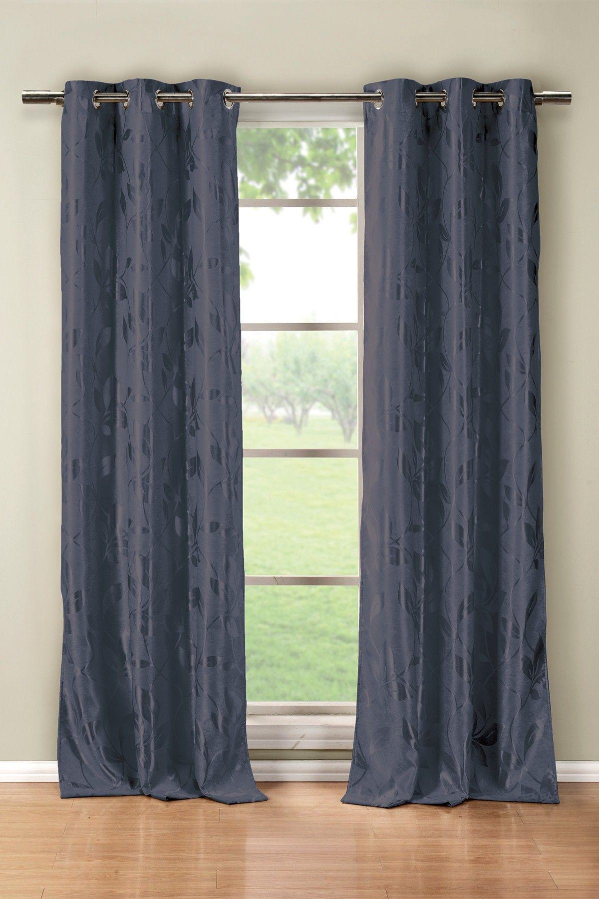DUCK RIVER Blair Heavy Blackout Grommet Panel Curtains - Set of 2 - Blue