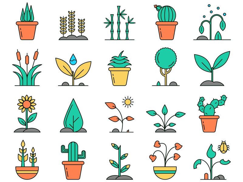 Plants Vector Free Icon Set Free Icon Set Vector Free Icon Set Vector Free