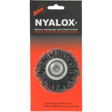 DiCo. 7200005 2-1/2 inch Extra-Coarse Nyalox Cup Wire Brush, Gray
