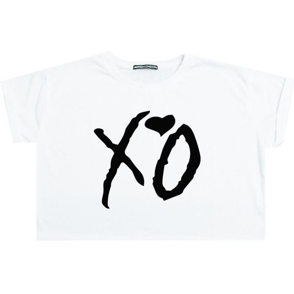 Xo Crop Top T Shirt Tee Womens Girl Funny Fun Tumblr Hipster Swag Grunge Goth Punk Fashion Girl Fest The Weeknd T Shirt Colorful Crop Tops Xo Shirt